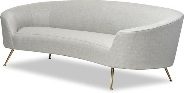 Lazy Minimalist Velvet or Linen Sofa image 3
