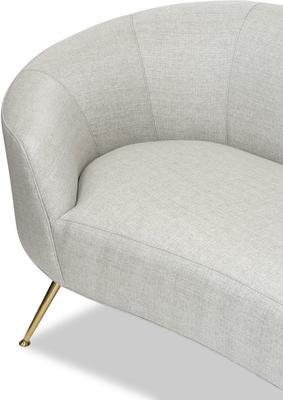 Lazy Minimalist Velvet or Linen Sofa image 5