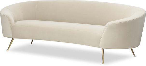 Lazy Minimalist Velvet or Linen Sofa image 7