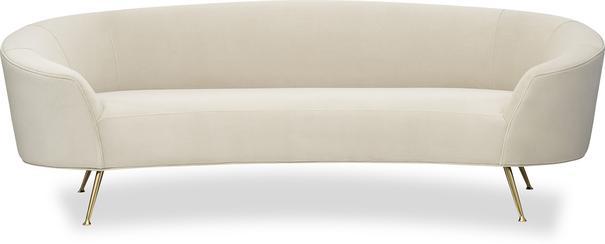 Lazy Minimalist Velvet or Linen Sofa image 8