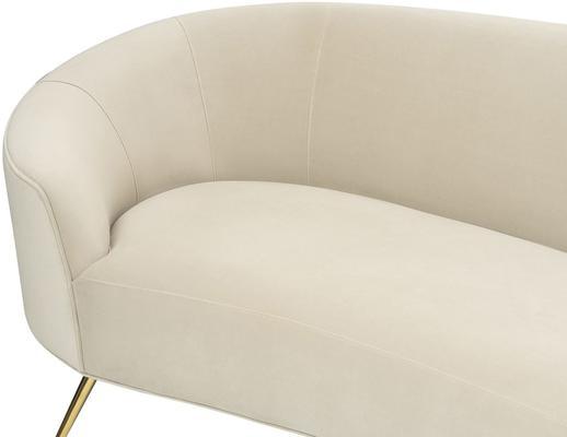 Lazy Minimalist Velvet or Linen Sofa image 10