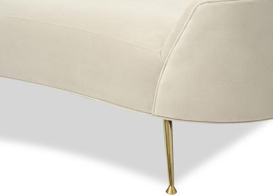 Lazy Minimalist Velvet or Linen Sofa image 11
