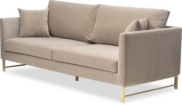 Vero Sofa Mink or Deep Blue Velvet image 9