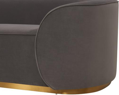 Rondo Modern Sofa Light or Dark Grey image 7