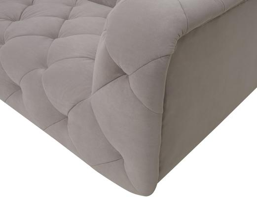 Mali Buttoned Sofa Grey with Brass Legs image 3