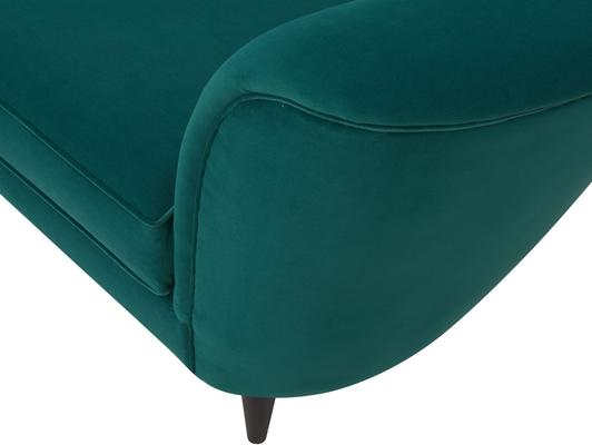 Allegro Swirl Velvet Sofa Green or Grey image 9