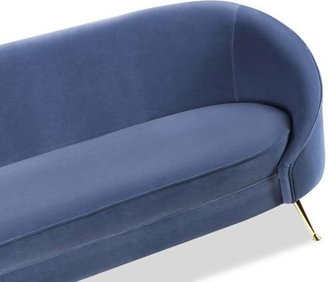 Baxter Retro Velvet Sofa in Grey or Blue image 5