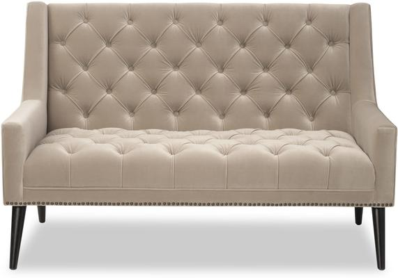 Richmond Sofa in Blue or Mink Velvet image 2