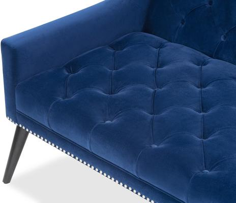 Richmond Sofa in Blue or Mink Velvet image 8