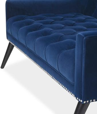Richmond Sofa in Blue or Mink Velvet image 9