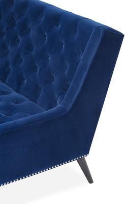 Richmond Sofa in Blue or Mink Velvet image 10