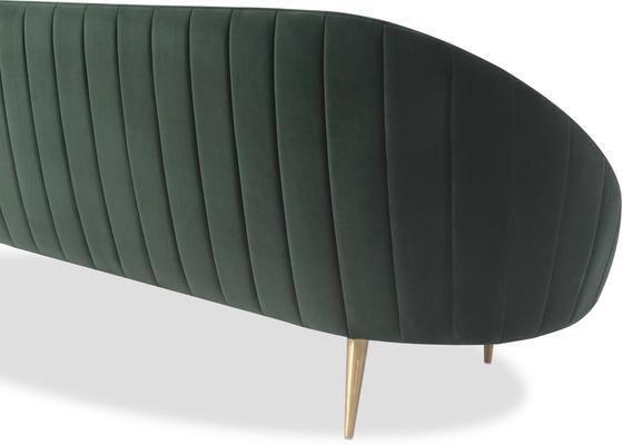 Marley Velvet Retro Sofa Light Grey or Green image 4