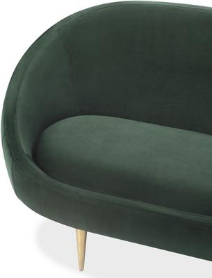 Marley Velvet Retro Sofa Light Grey or Green image 5