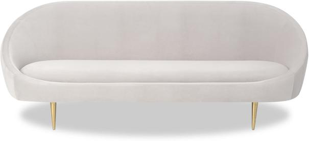 Marley Velvet Retro Sofa Light Grey or Green image 8