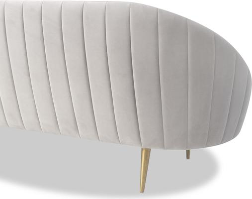 Marley Velvet Retro Sofa Light Grey or Green image 10