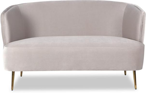 Prague Light Grey Velvet Sofa Button Back image 2