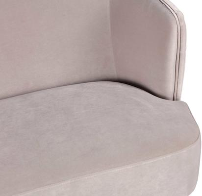 Prague Light Grey Velvet Sofa Button Back image 5