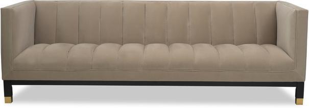 Gamal Velvet Sofa in Grey, Beige or Blue