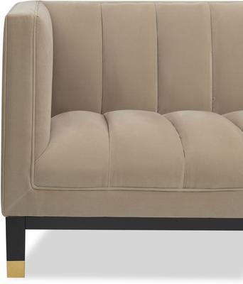 Gamal Velvet Sofa in Grey, Beige or Blue image 3
