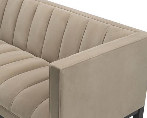 Gamal Velvet Sofa in Grey, Beige or Blue image 5