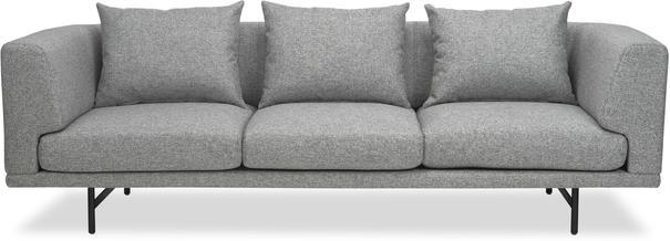 Mossi Three Seat Sofa in grey or honey