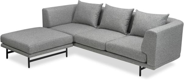Mossi Three Seat Sofa in grey or honey image 3
