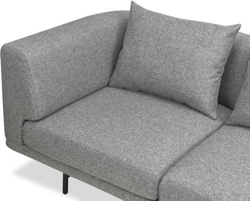 Mossi Three Seat Sofa in grey or honey image 5