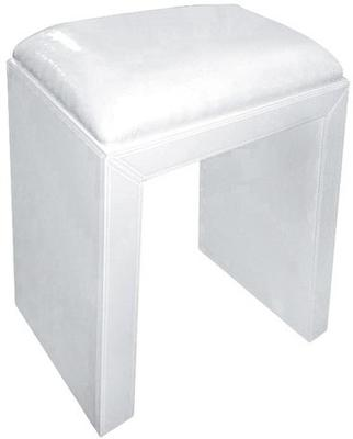 Mirrored Stool with Leatherette Seat image 2