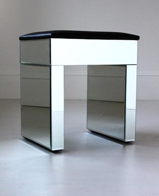 Re-Coverable Mirrored Stool with Black Cover image 4