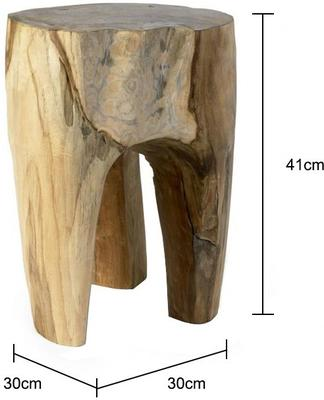 Three Leg Wooden Stool Rustic Tree Shape image 4