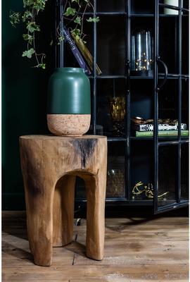 Three Leg Wooden Stool Rustic Tree Shape image 5
