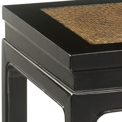 Square Stool, Black Lacquer image 2