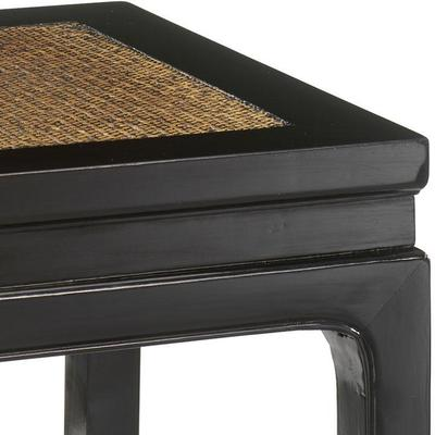 Square Stool, Black Lacquer image 4