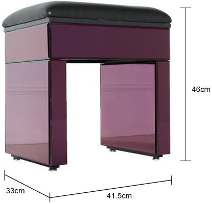 Re-Coverable Purple Mirrored Stool image 2