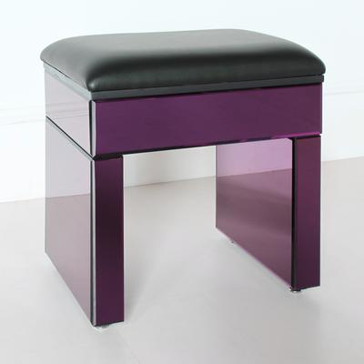 Re-Coverable Purple Mirrored Stool image 3
