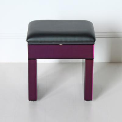 Re-Coverable Purple Mirrored Stool image 4