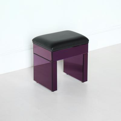 Re-Coverable Purple Mirrored Stool image 5