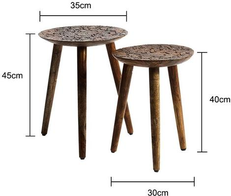 Carved Wooden Stools image 2