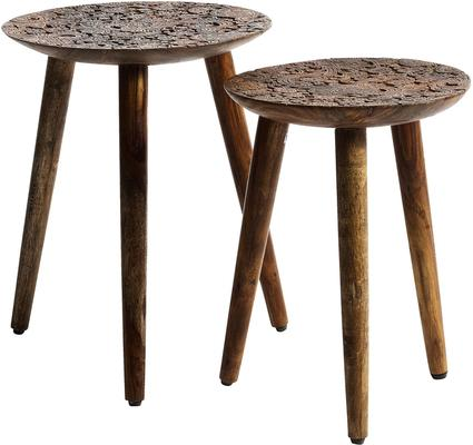 Carved Wooden Stools image 3