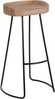 Tall Stool In Oak and Iron