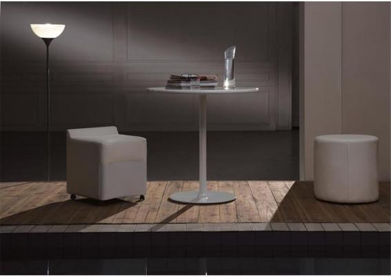 Enzo cylinder leather stool image 2