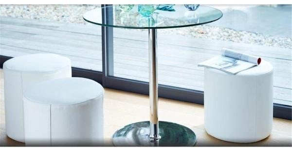 Enzo cylinder leather stool image 3