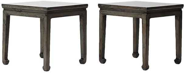 Distressed Grey Lacquer Stool