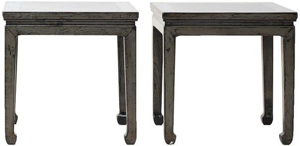 Distressed Grey Lacquer Stool image 2