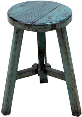 Round Stool - Blue Lacquer