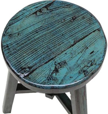 Round Stool - Blue Lacquer image 2