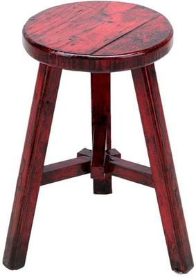 Round Stool - Red Lacquer