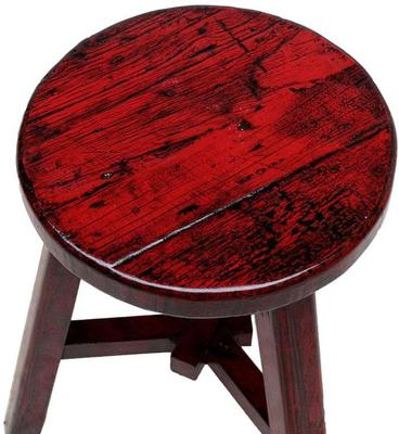 Round Stool - Red Lacquer image 2