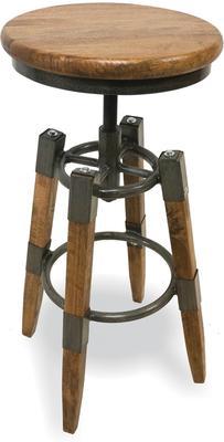 Industrial Vintage Swivel Stool Wood and Metal