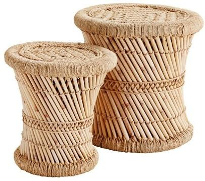 Bamboo Indian Stools - Set of 2 image 2
